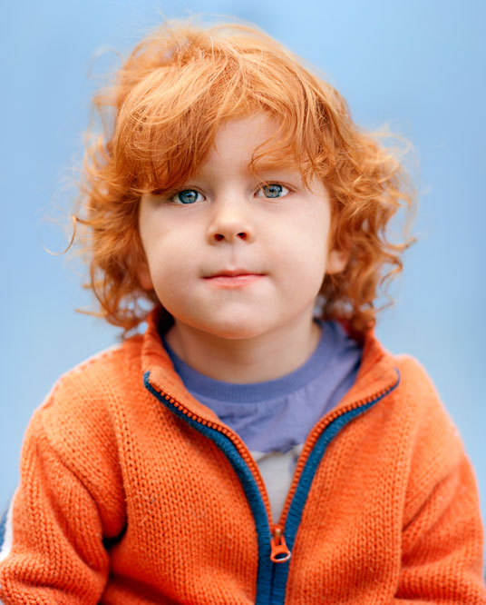 portrait of ginger kid